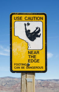 Caution near edge copy
